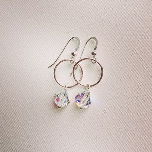 Swarovski Helix Crystal & Sterling Silver Earrings