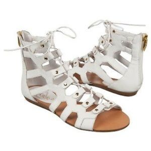 Fergie Shoes - NWOT White Gladiator Sandals