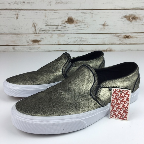 d918e741d0  Vans  Metallic Pewter Silver Leather Cool Vibe