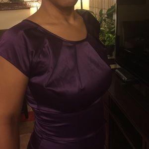 Shabby Apple Dresses & Skirts - Shabby Apple eggplant LA dress