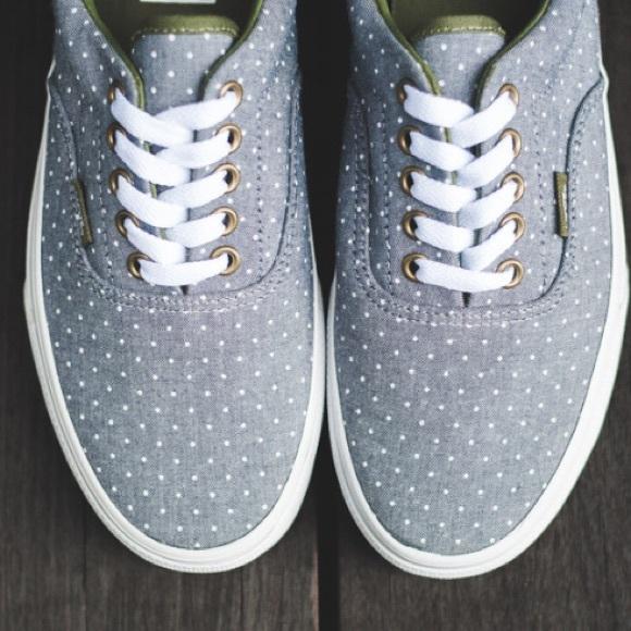 Vans chambray polka dot shoes 6b789bb8e7