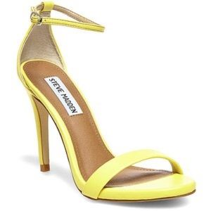 yellow steve madden heels on Poshmark