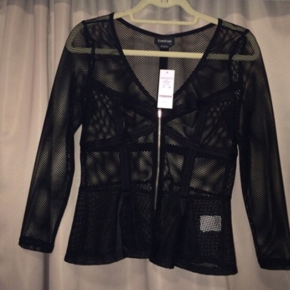 bebe Tops - Peplum top