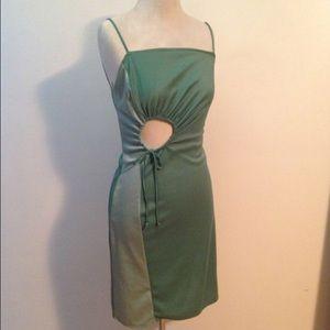 Vintage Italian Mint Green 70's Party Dress Size S