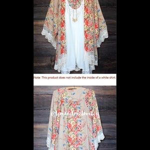 Boutique Tops - BF Stunning floral and lace kimono💙❤️💖