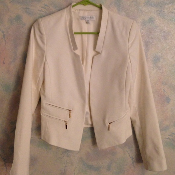 57% off Forever New Jackets & Blazers - Forever New short cream ...