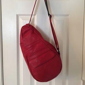 Ameribag Handbags - 🛍 Amazing Red Ameribag Leather Backpack