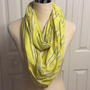 Neon yellow infinity scarf by Gap