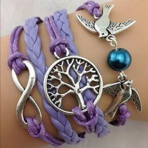 Jewelry - Purple tree of life  infinity bracelet