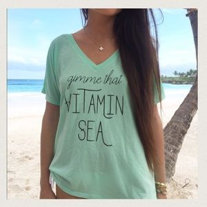 Friday Apparel Tops - Gimme That Vitamin Sea Graphic Tee