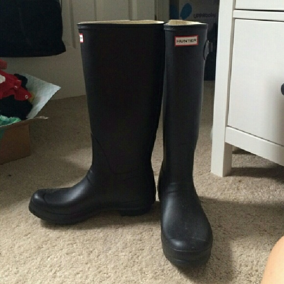 37 off hunter boots shoes black matte hunter boots from