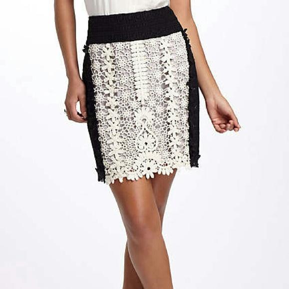 Anthropologie patchwork lace pencil dress
