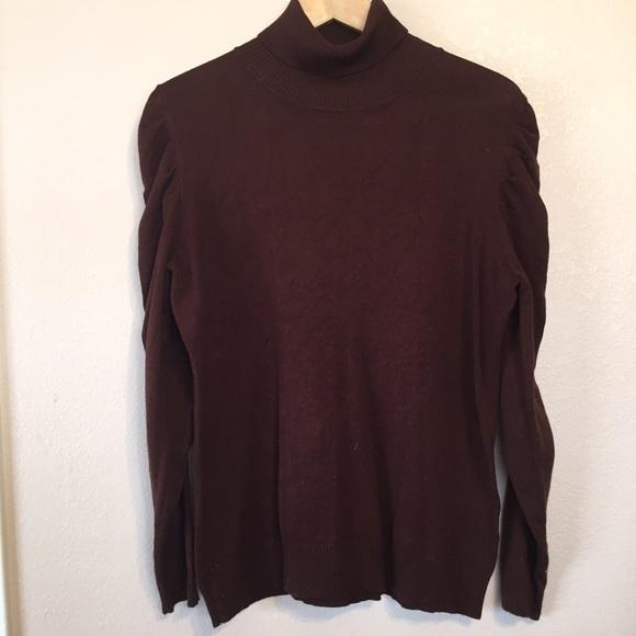 Joseph A Sweaters Joseph A Brown Turtleneck Sweater Poshmark