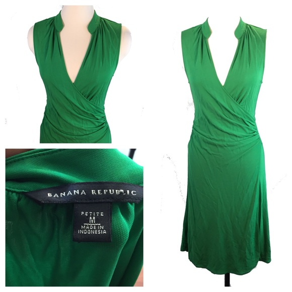 Green Jersey Knit Dresses