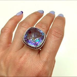 Jewelry - Hypnotic Quartz black sapphire silver ring