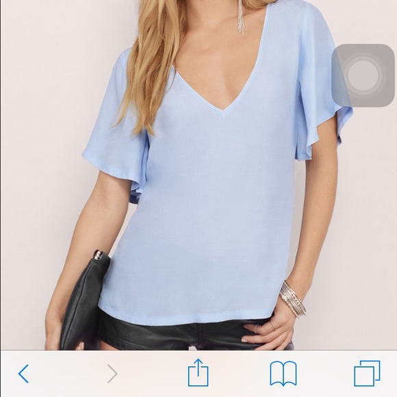 55% off Tobi Tops - Tobi powder blue blouse from Emily's closet on ...