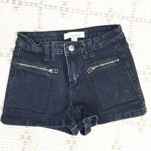NEW forever21 black wash high waist denim shorts