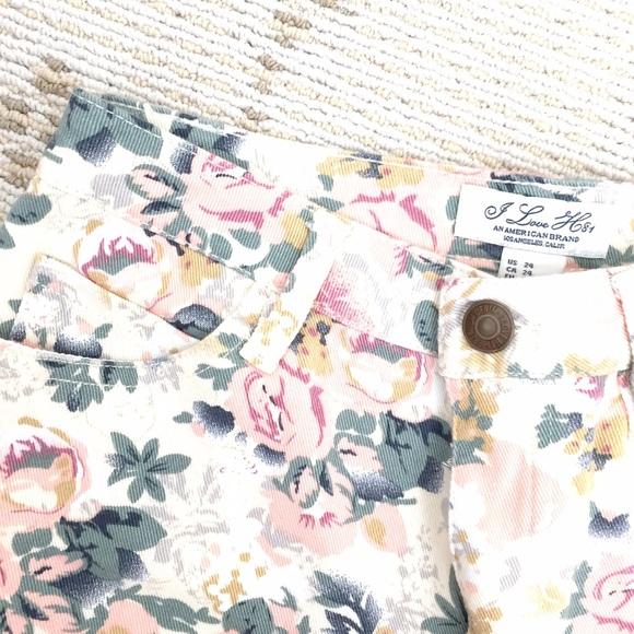 Forever 21 Shorts - NEW Forever21 floral high waist denim shorts