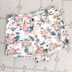 NEW Forever21 floral high waist denim shorts