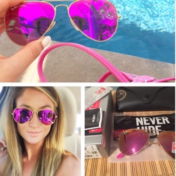 Ray Ban Accessories Looking For These Magenta Flash Ray