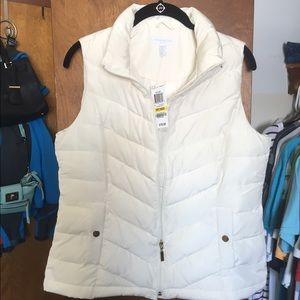 Off White Puffy Vest