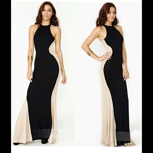 Dresses Black Tan Hourglass Maxi Dress Poshmark
