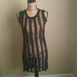 Dresses & Skirts - See-through Striped Dress