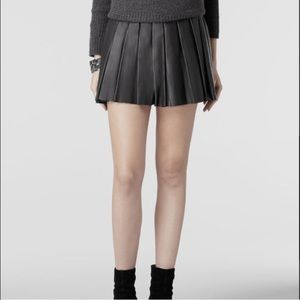 🎉 2x HP🎉 AllSaints Flore Leather Pleated Skirt