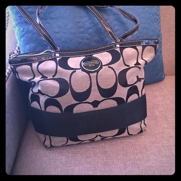 Coach Handbags - SOLD! Black Coach bag-marked LOW!