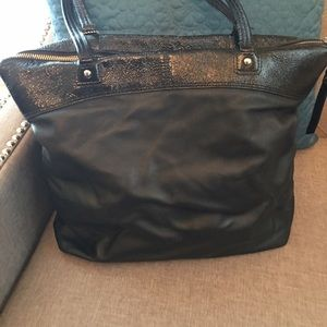 Coach Bags - All black Coach tote:large!