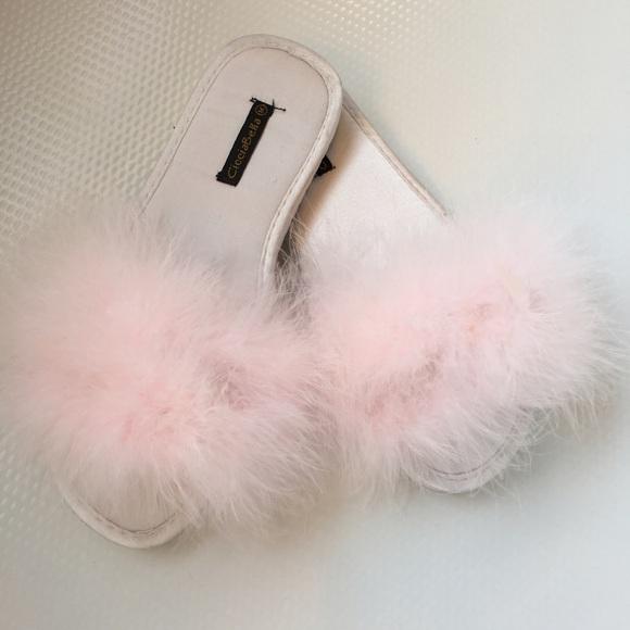 Cicciabella Shoes Furry Feather Flip Flops Poshmark