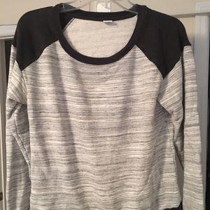 Tops - Three Dot black and grey sweatshirt