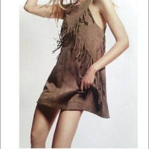 NWT faux suede dress