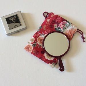 Gail Ahlers pill box & Japanese mirror
