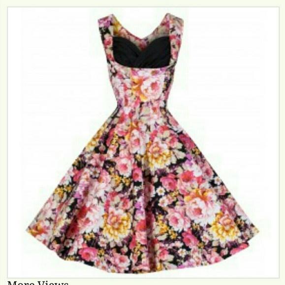 71fb22d604bb Lindy Bop Dresses   Ophelia Floral Swing Dress   Poshmark