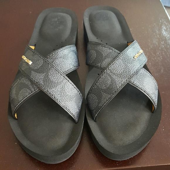 24304fb2458f Coach Shoes - NWOT Coach Cross Strap Sandals