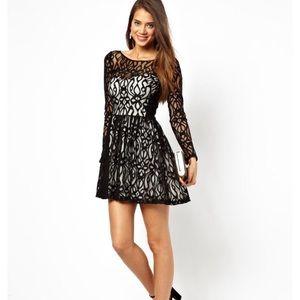 ASOS Dresses & Skirts - Iipsy London asos lace skater dress