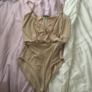 Boohoo Tops - Champagne body suit