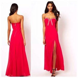 ASOS Dresses & Skirts - Asos Lipsy vip jewel crystal split prom dress