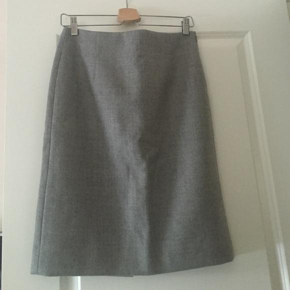 74 j crew dresses skirts j crew gray wool lined