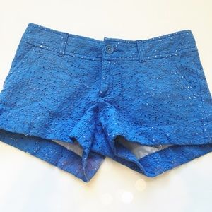Lilly Pulitzer Pants - Lilly Pulitzer Blue Lace Shorts