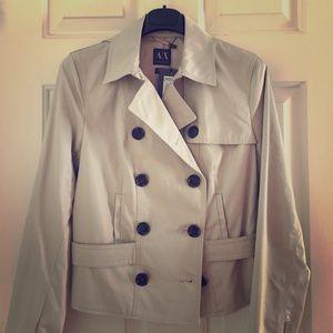 Armani Exchange Cropped Trench Coat Jacket