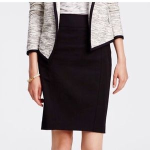 Ann Taylor Seamed Pencil Skirt 8