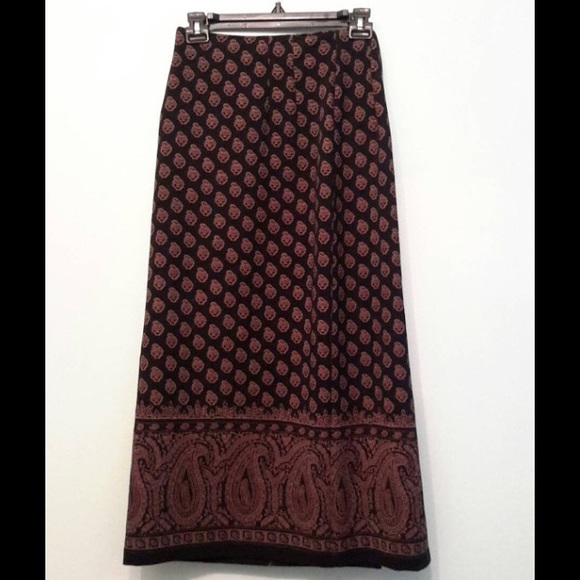 vintage vintage black and gold maxi skirt from erin s