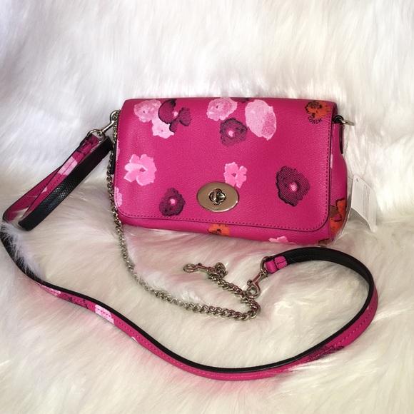 Coach Bags Pink Floralflowers Crossbody Bag F35553 Poshmark