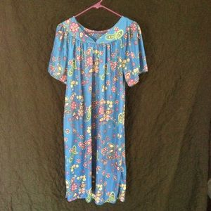 Vintage polyester moo moo house dress