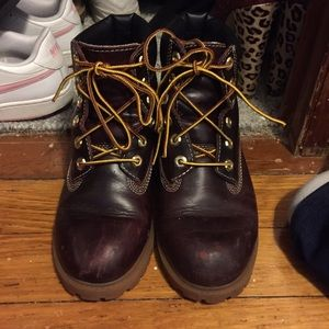 Timberland Shoes - Burgundy Timberlands used