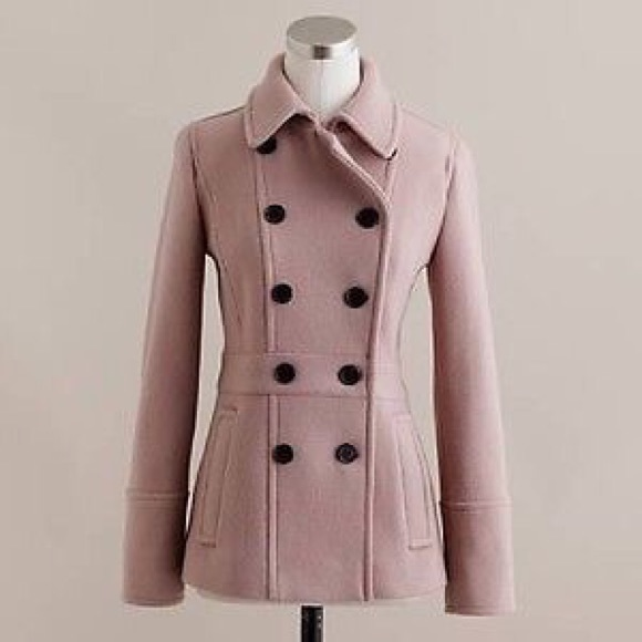 89% off J. Crew Jackets & Blazers - Beautiful rose colored pea ...