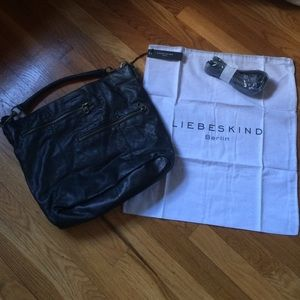 Liebeskind Handbags - NWT black leather Liebeskind bag.
