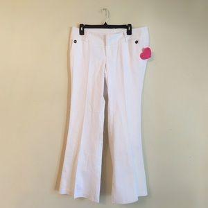 Textured White Pants